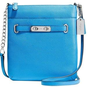 Coach Swingpack Swagger Blue Leather Cross Body